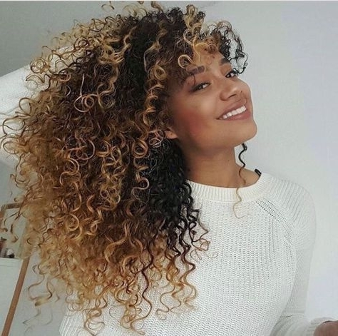 ? Afrodesiac Ethnic Women Of Culture Worldwide | Weaves | Pinterest Throughout Brown To Blonde Ombre Curls Hairstyles (View 2 of 25)