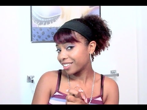 ?Quick Ponytail With Bangs (Short Natural/curly Hair)? – Youtube With Natural Curly Pony Hairstyles With Bangs (View 8 of 25)