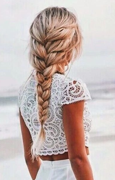 Easy Braided Hairstyles For Spring 2017 In 2018 | Hair Inspiration Inside Beachy Braids Hairstyles (View 18 of 25)