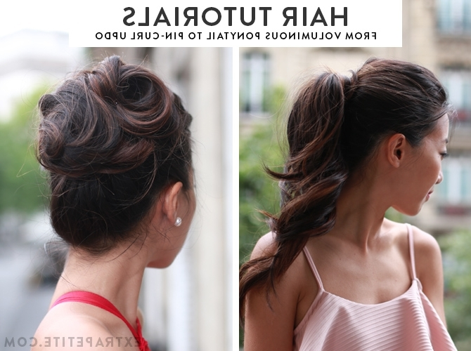 Easy Formal Hairstyle Tutorials: From Voluminous Ponytail To With Loose And Looped Ponytail Hairstyles (View 9 of 25)