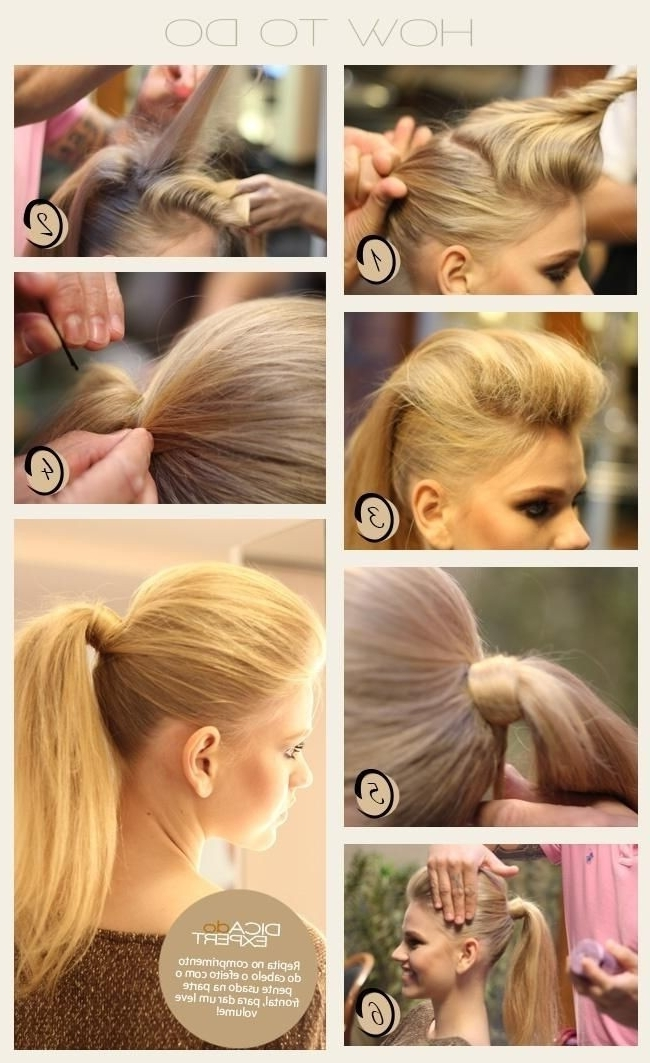 Easy, High Ponytail Hairstyle Tutorial – Popular Haircuts With Straight High Ponytail Hairstyles With A Twist (View 18 of 25)