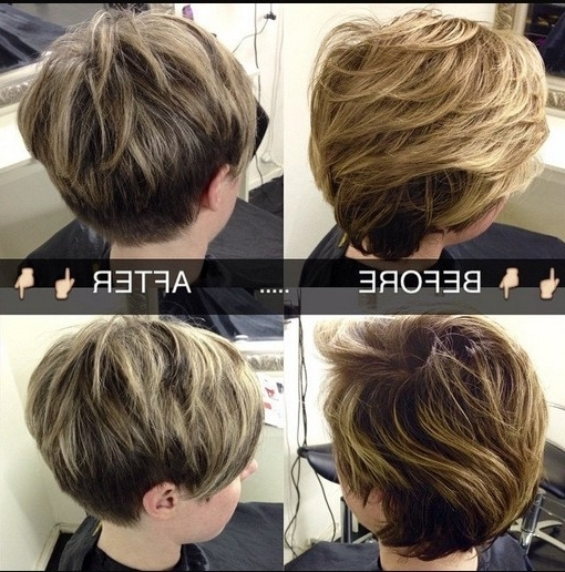 Easy Layered Pixie Haircut For Women With Regard To 2018 Brunette Pixie Hairstyles With Feathered Layers (View 25 of 25)