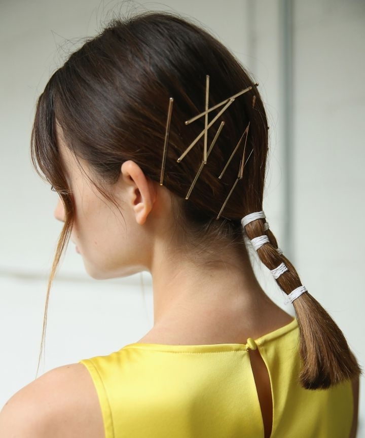 Easy Ponytail Ideas For Fall In Braided Millennial Pink Pony Hairstyles (View 8 of 25)