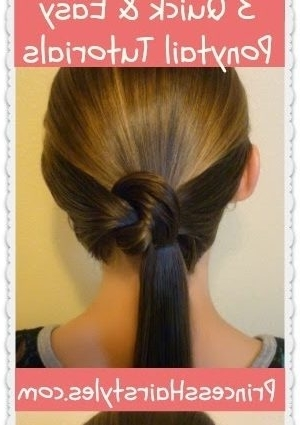 Easy Princess Hairstyles 3 Quick And Easy Ponytail Hairstyles With Regard To Princess Ponytail Hairstyles (View 6 of 25)