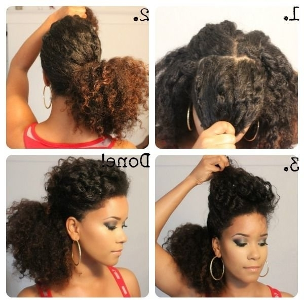 Edgy Pompadour Pony – 67 Crushworthy Natural Hair Ideas From… Throughout Pompadour Pony Hairstyles (View 14 of 25)