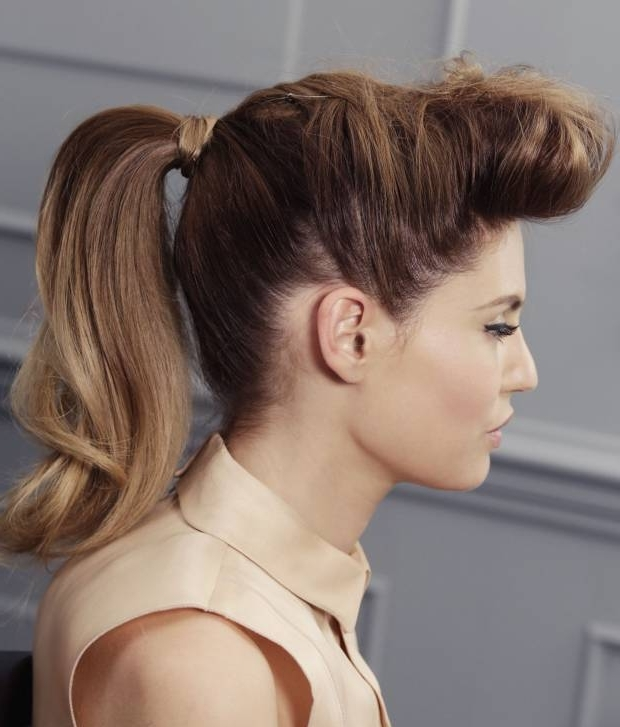 Effortless Messy Ponytail Hairstyles | 2019 Haircuts, Hairstyles And With Retro Glam Ponytail Hairstyles (View 3 of 25)