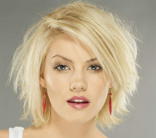 Elisha Cuthbert Textured Bob – Casual, Party – Careforhair.co (View 5 of 25)