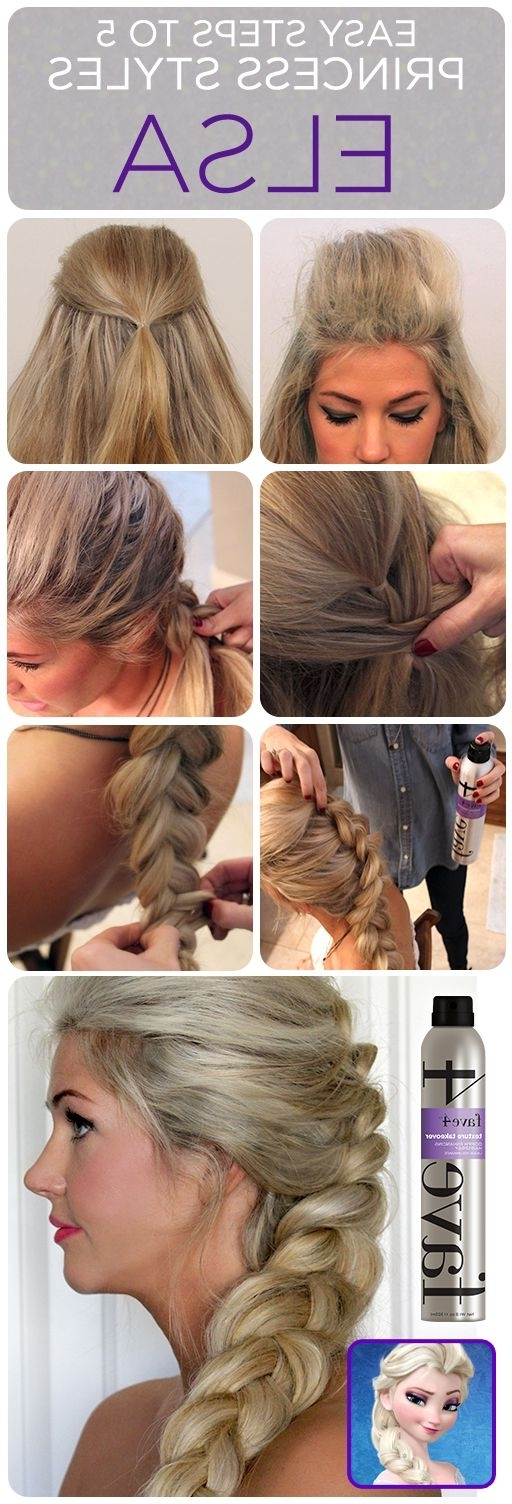 Elsa's Hair How To For Halloween! | Beauty | Pinterest | Elsa Braid With Regard To Princess Like Ponytail Hairstyles For Long Thick Hair (View 15 of 25)