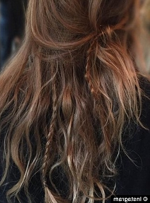 Emma Roberts And Cara Delevingne's Accent Plaits Are Cool As Pertaining To Hidden Braid Hairstyles (View 25 of 25)