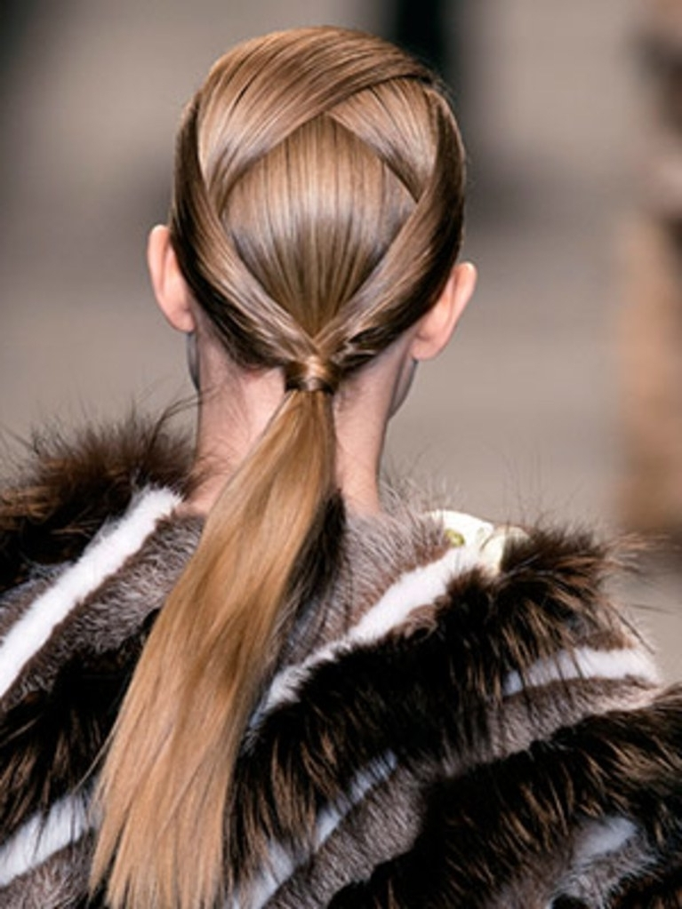 End The Month Of November With This Intricate Ponytail | Allure With Braided Millennial Pink Pony Hairstyles (View 13 of 25)