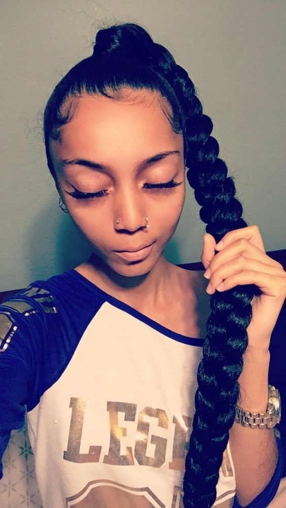 Epochal Black Ponytail Hairstyles Get Ready For 2018 Throughout Long And Sleek Black Ponytail Hairstyles (View 8 of 25)