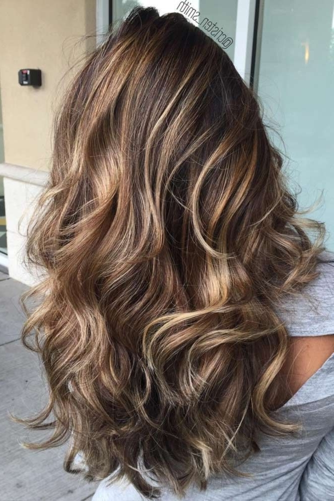 Espresso Balayage With Caramel Tones | Pinterest | Balayage Hair Intended For Beige Balayage For Light Brown Hair (View 12 of 25)