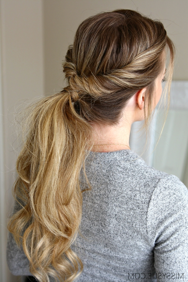 Featured Photo of Low Twisted Flip In Ponytail Hairstyles