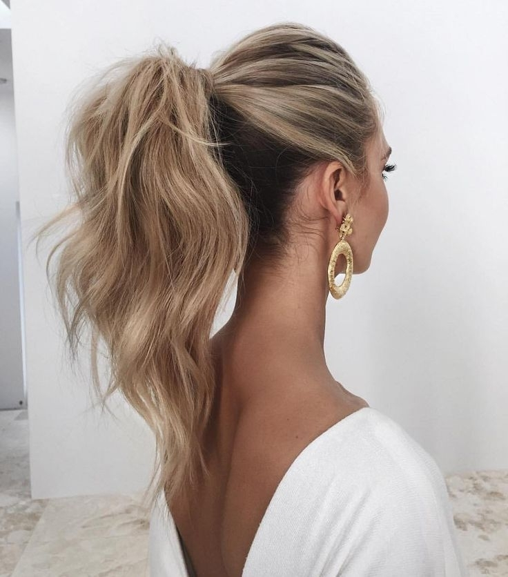 Exotic Messy Ponytail Updo – Treeclimbingasia For Messy Ponytail Hairstyles With A Dutch Braid (View 24 of 25)