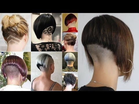 Extreme Bob Haircut Nape Shave – Nape Shaving Women – Bob Hairstyles In Best And Newest Stacked Pixie Hairstyles With V Cut Nape (View 4 of 25)