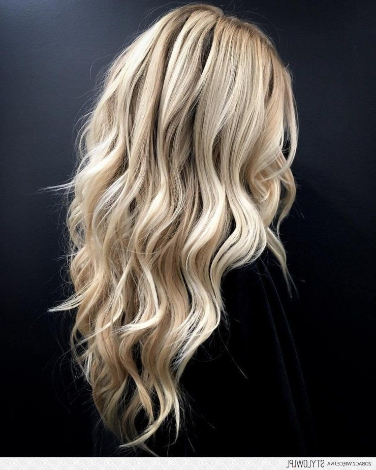Fabulous Wave | Heavenly Hair | Pinterest | Blondes, Hair Style And For Creamy Blonde Waves With Bangs (View 5 of 25)