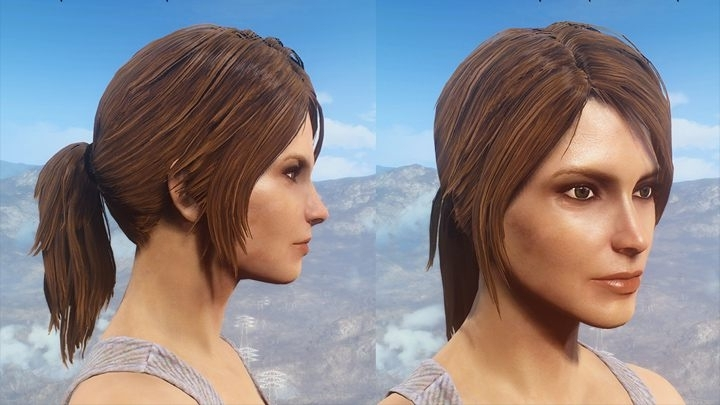 Fallout 4 Game Mod Ponytail Hairstyles V. (View 6 of 25)