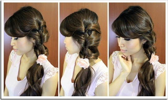Fancy Looped Side Ponytail Hairstyle · Just Bebexo • A Lifestyle Intended For Fancy And Full Side Ponytail Hairstyles (View 8 of 25)