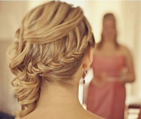 Fantastic Wedding Hairstyles With Braids   Girls Hair Ideas In Updo Pony Hairstyles With Side Braids (View 12 of 25)