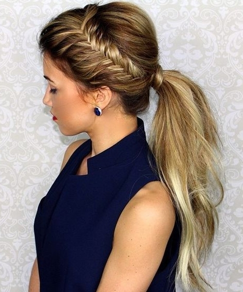 Fascinating Braided Ponytail Hairstyles For Prom | Dinga Poonga Intended For Brunette Prom Ponytail Hairstyles (View 10 of 25)