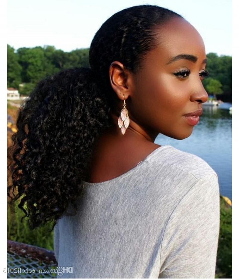 Fashion Human Hair Ponytail Extensions Virgin Human Hair Ponytail Pertaining To Jet Black Pony Hairstyles With Volume (View 18 of 25)