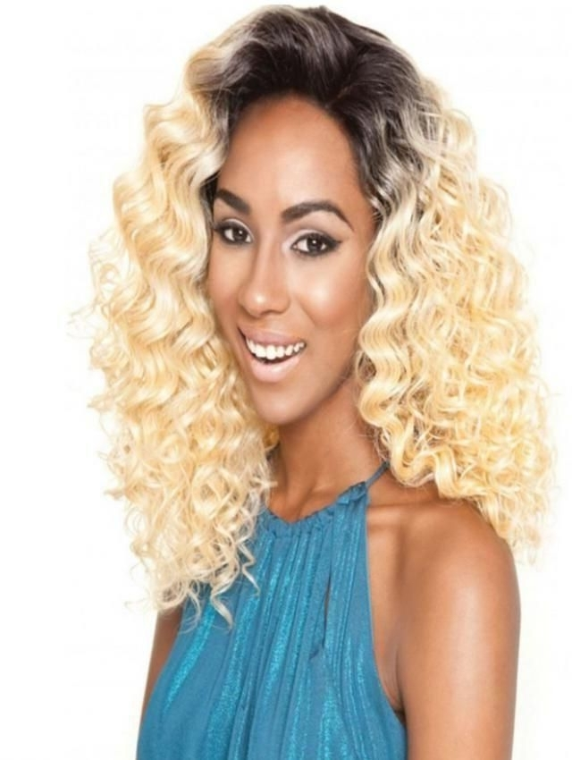 Fashion Isis Human Hair Blend Brown Sugar Silk Lace Wig Blonde Price Within Brown Sugar Blonde Hairstyles (View 22 of 25)