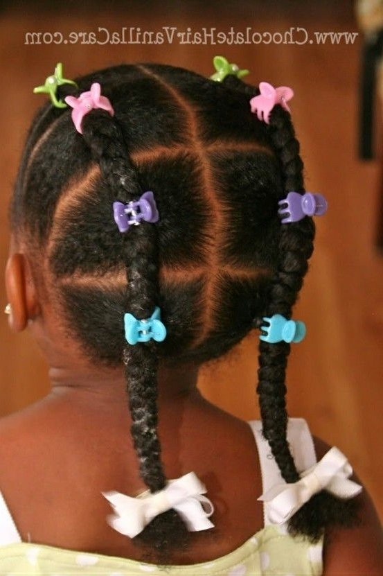 Faux French Braids Or Piggyback Braids #naturalhair #piggybackbraids In Reverse French Braids Ponytail Hairstyles With Chocolate Coils (View 3 of 25)