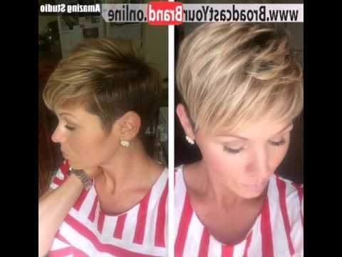 Featured Photo of Feathered Pixie With Balayage Highlights
