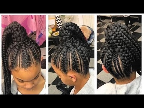 Feed In Braids Into Ponytail (View 19 of 25)