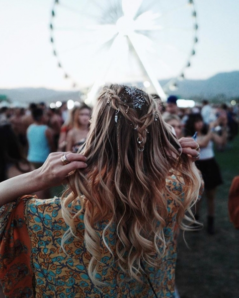 Festival Inspired Summer Hairstyles   The Elchim Diary Within Glitter Ponytail Hairstyles For Concerts And Parties (View 19 of 25)