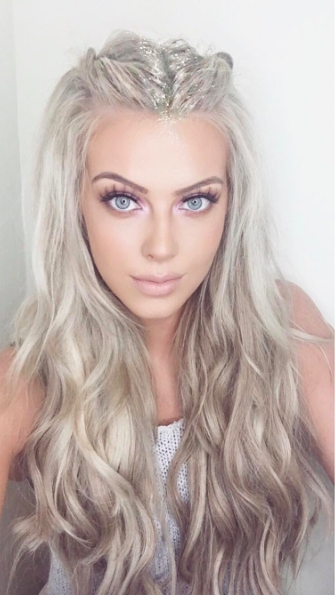 Festive Look #glitter | Long Locks | Pinterest | Hair Style, Makeup Inside Platinum Blonde Long Locks Hairstyles (View 5 of 25)