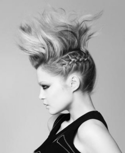 Fierce Half Braided Mohawk For Medium Hair – Fmag Pertaining To Fierce Faux Mohawk Hairstyles (View 8 of 25)
