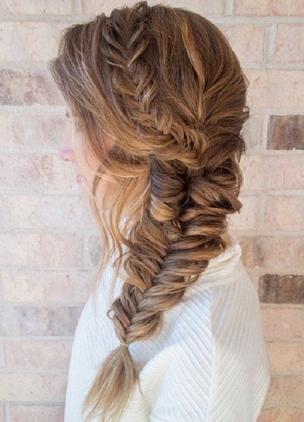 Fishtail Braid Hairstyles, Choose Your Fishbone Braid Style Intended For Messy Volumized Fishtail Hairstyles (View 17 of 25)