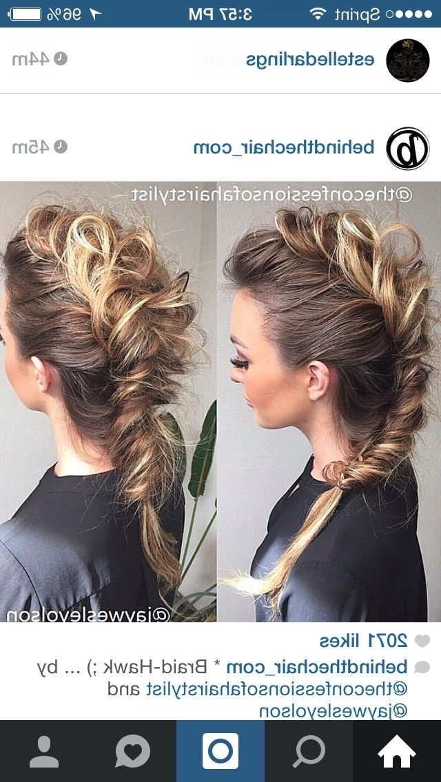 Fishtail Mohawk | My Style | Pinterest | Mohawks, Fishtail And Hair For Undone Fishtail Mohawk Hairstyles (View 18 of 25)