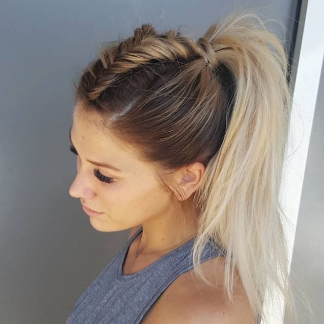 Fishtail Unicorn Braid, I Don't Think I'll Ever Be Able To Do This Regarding Honey Blonde Fishtail Look Ponytail Hairstyles (View 3 of 25)
