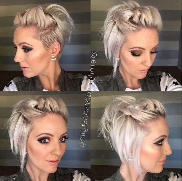 Flirty Pinback – Shaved Hairstyles For Short Hair | Short Hairs For Blonde Flirty Teased Ponytail Hairstyles (View 12 of 25)