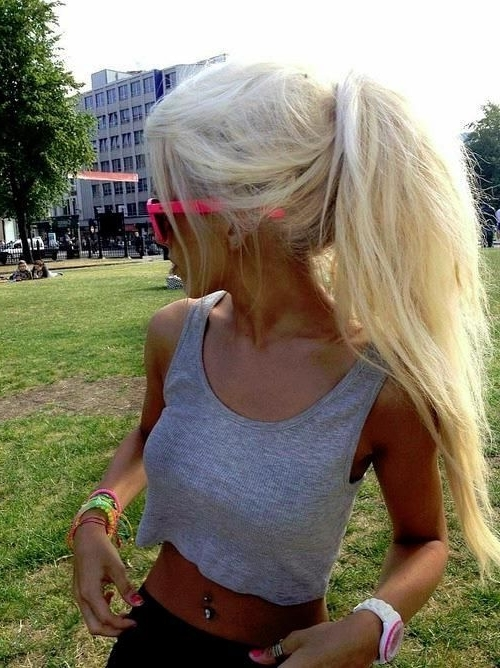 Fluffy Ponytail | Hair Styles & Color In 2018 | Pinterest | Ponytail Inside Full And Fluffy Blonde Ponytail Hairstyles (View 12 of 25)