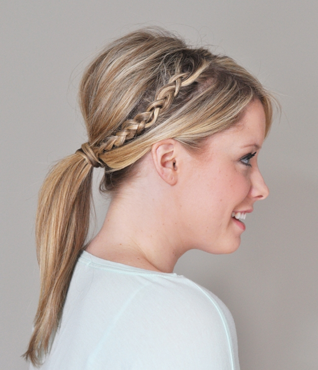 For A Mature French Braid Hairstyle, Try The Double Braided Ponytail Within Double Braided Hairstyles (View 22 of 25)