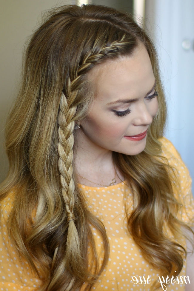 French Accent Braid For Pony Hairstyles With Accent Braids (View 11 of 25)