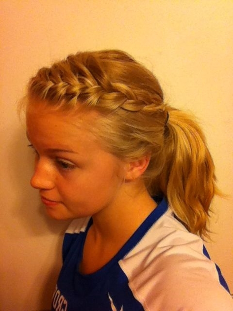 Featured Photo of Brunette Ponytail Hairstyles With Braided Bangs