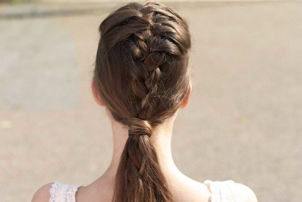 French Braid Hairstyles: 8 Casual Weekend Plaits To Try Pertaining To Trendy Ponytail Hairstyles With French Plait (View 21 of 25)