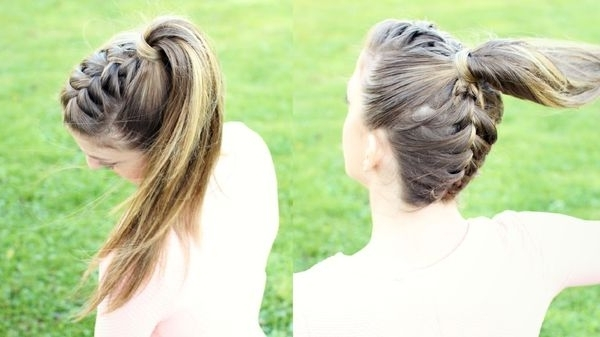 French Braid Hairstyles, Pictures Of Elegant French Braid With Regard To Half French Braid Ponytail Hairstyles (View 23 of 25)