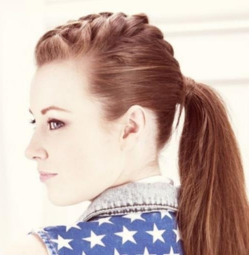 French Braid Into High Ponytail 3 Punky Ponytail Photos – Hairstyle Within Punky Ponytail Hairstyles (View 20 of 25)