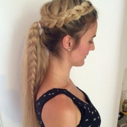 French Braid Into Side Ponytail Sassy Braided Hair Simple – Hairstyle Throughout Sassy Side Ponytail Hairstyles (View 10 of 25)