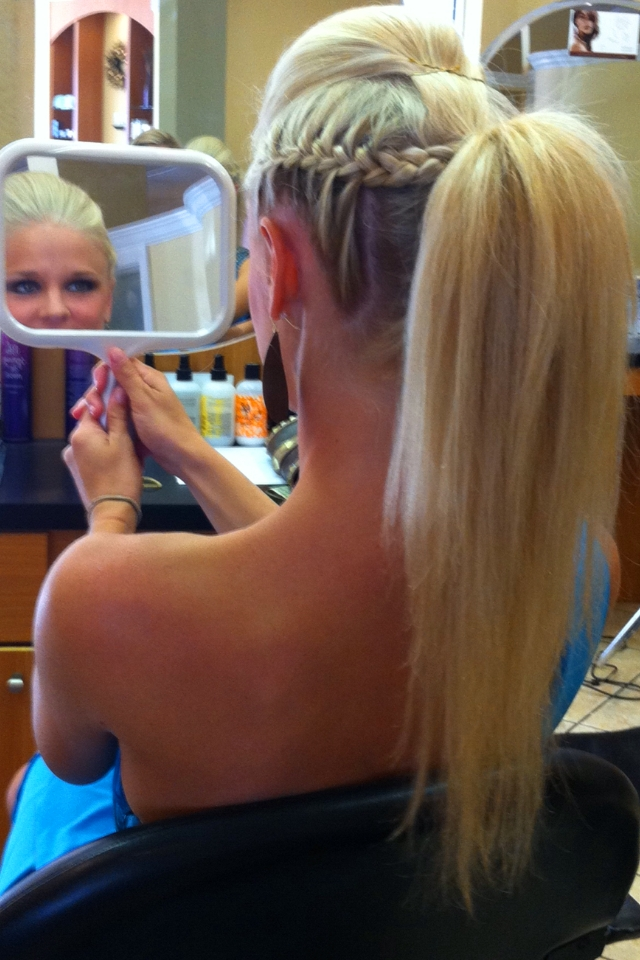 French Braid Mohawk! | Braids | Pinterest | French Braid Mohawk Pertaining To Braided Ponytail Mohawk Hairstyles (View 10 of 25)