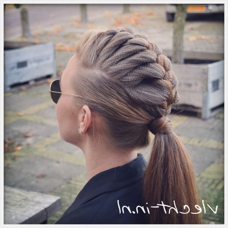 French Braid Mohawk | Love Trenzas!! | Pinterest | French Braid Within Braided Ponytail Mohawk Hairstyles (View 18 of 25)