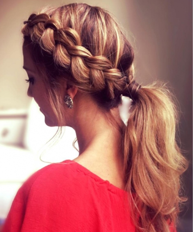 French Braid Ponytail Hairstyles – Kitharingtonweb Within Braid Into Pony Hairstyles (View 17 of 25)