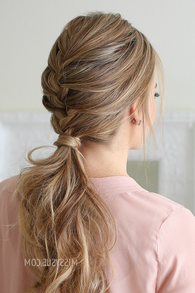 French Braid Ponytail | Missy Sue Intended For French Braid Ponytail Hairstyles (View 25 of 25)