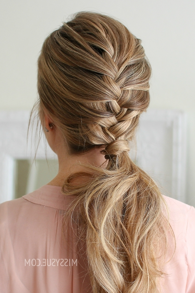 French Braid Ponytail | Missy Sue Within Pony Hairstyles With Textured Braid (View 21 of 25)