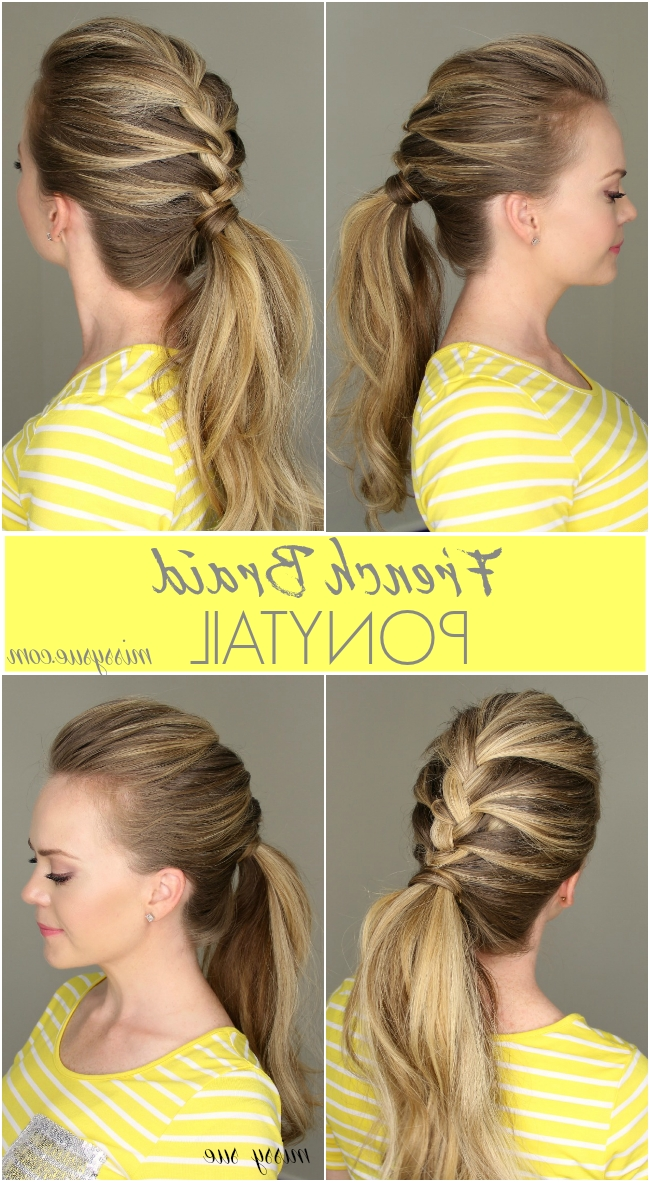 French Braid Ponytail Pertaining To Half French Braid Ponytail Hairstyles (View 7 of 25)